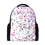 Mochila para portátil de arte abstracto colorido, mochila escolar casual para viajes