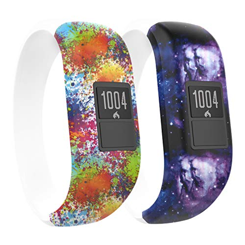 MoKo Kompatibel mit Garmin Vivofit JR/Vivofit JR 2/Vivofit 3 Armband, Silikon Uhrenarmband Sportarmband Erstatzband mit Schließe, 5.74