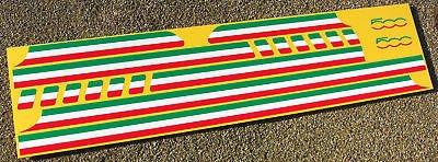 FIAT 500 Italienische Flagge Streifen stil Sticker