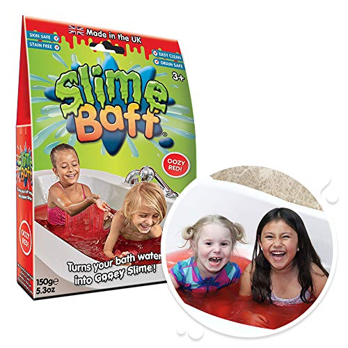 Slime Baff Red, 1 Bath Pack, Turn water into gooey slime! Children's Sensory & Bath Toy, Certified Biodegradable Toy