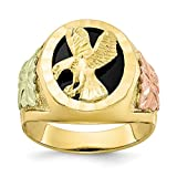 Jewels By Lux Anillo de Oro Tricolor Negro colinas para Hombre 6