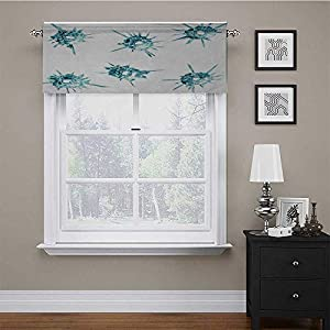 Valance Curtain Alluring Charming Gems Crystal Like Diamonds with Spike Like Lights Image Well Made Valances Fabric Soft Yet Not Flimsy – Hangs Beautifully Teal Turquoise White