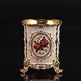 YYANG Portalápices Europeo Bolígrafo De Barril De Oro Decoración De Rosas Oficina Básica De Tres Pies,Gold-Red