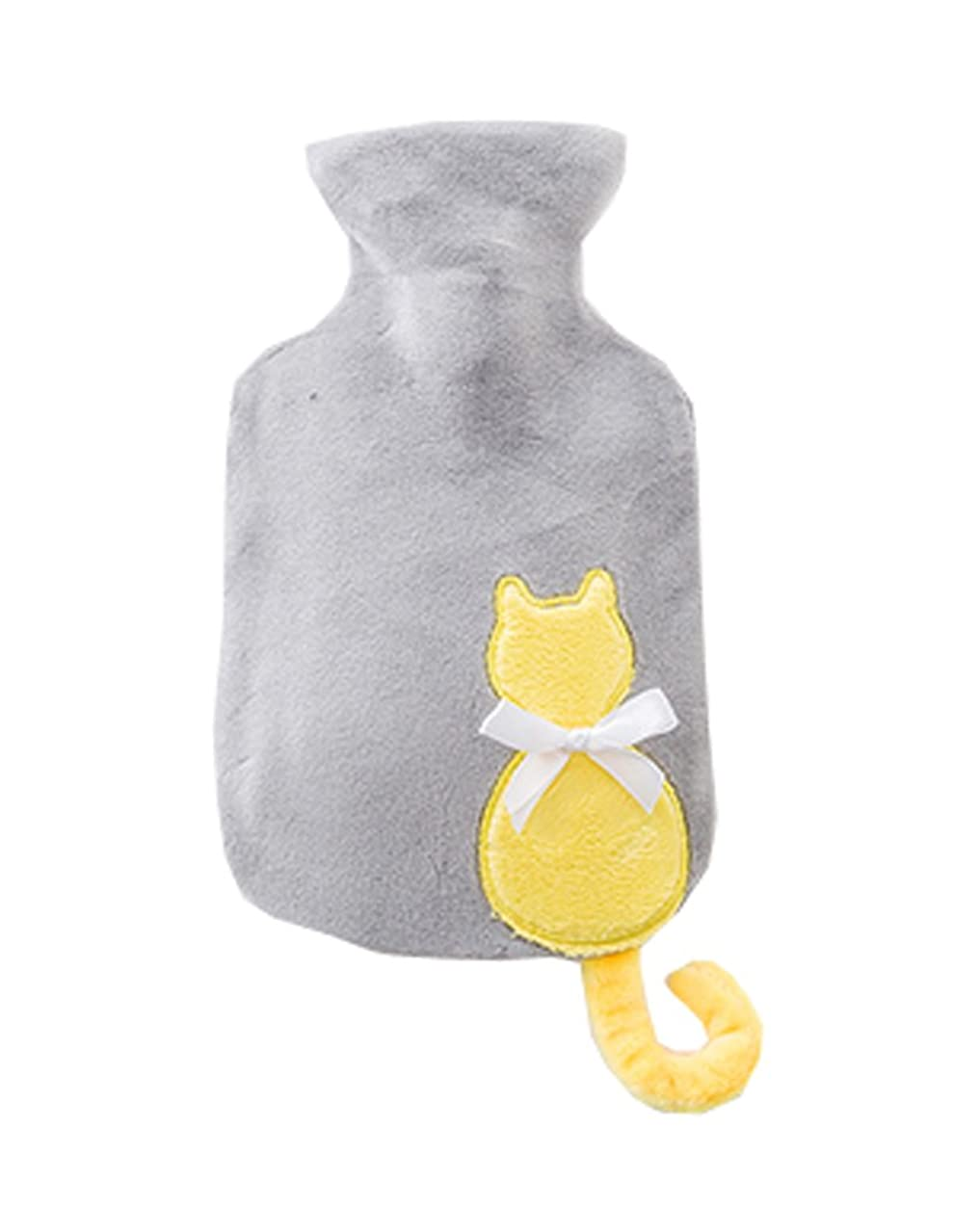 修正する破産フォルダ漫画の猫ぬいぐるみラバーミニウォームハンドバッグ、黄色の猫