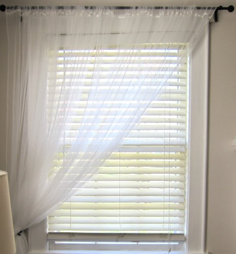 Ikea - Coppia di tende in tulle, colore: bianco, lunghezza: 3 m