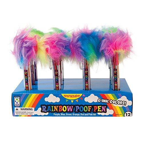 Raymond Geddes 6 color Rainbow Poof Pen 12/Display Ballpoint Pen (70509)