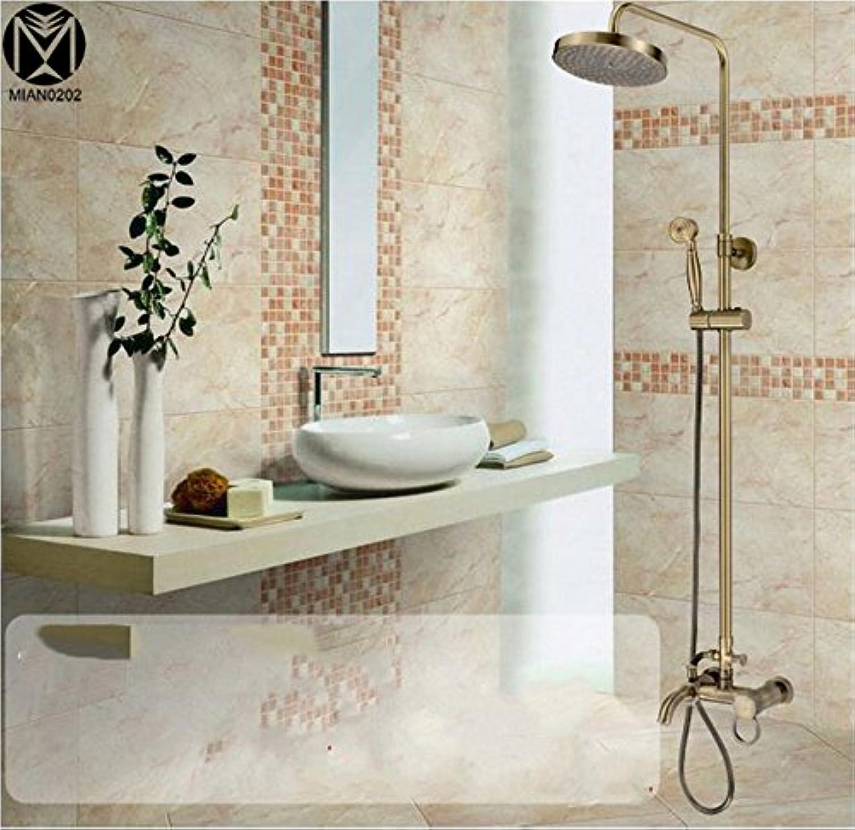 Badthroom Luxury Antique Bronze Shower Set Torneira Rainfall Shower Head Bathroom Faucets Mixer Tap SHOWER HEAD SET