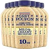 Grey Poupon Mild & Creamy Dijon Mustard (8 ct Pack, 10 oz Bottles)