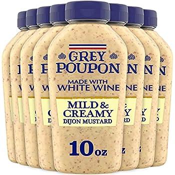 Grey Poupon Mild & Creamy Dijon Mustard  8 ct Pack 10 oz Bottles