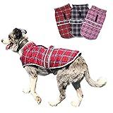 Oncpcare Manteau d'hiver pour Chien à Motif écossais, Chaud et réfléchissant, pour Chiens de Petite, Moyenne et Grande Taille
