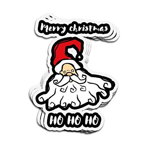 3 PCs Stickers Santa's Merry Christmas Ho Ho Ho Merry Christmas Ho Ho Ho 3×4 Inch Die-Cut Wall Decals for Laptop Window