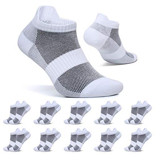 FALARY Calcetines Blanco Tobilleros Mujer 39-42 Cortos Deportivos Calcetin Hombre Algodon Transpirables 10 Pares
