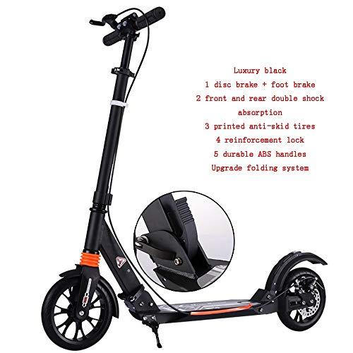 YUMEIGE Kickscooter Aluminiumlegierung Roller des Stoß-Tretrollers, die mit Rückstoßfuß für Teenager- / Erwachsen-Geburtstags-Geschenke mit Gewicht bis zu 150kg Nicht elektrisch faltet Verfügbar