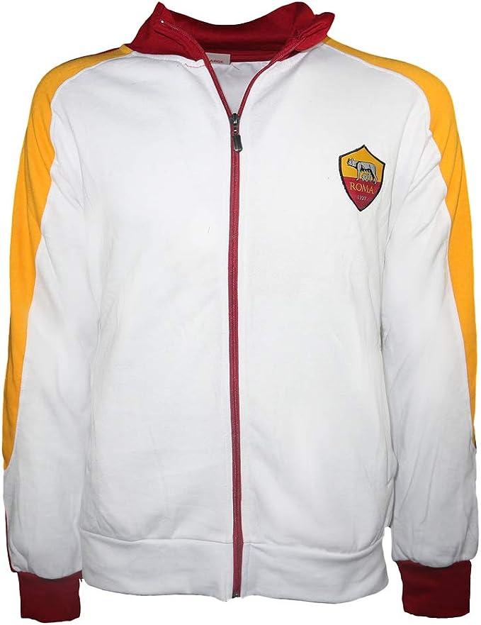 AS Roma Felpa Full Zip Bianca Uomo R13773 : Amazon.it: Moda