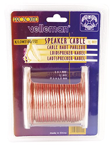 Velleman K/LOW2100/10T luidspreker Draad Transparant