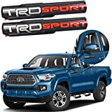 Auto safety 3D Raised Badge Nameplate Emblem Compatible with TRD Sport Left & Right Side Front Door ABS Decoration with Genuine 3M Adhesive 2 Pack