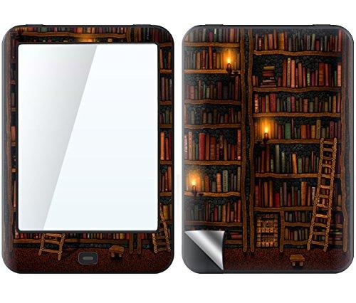 Tolino Shine 2 HD Skin BIBLIOTHEK Sticker Handy Folie Aufkleber + Wallpaper, Schutzfolie Fuer Cover