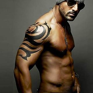Kotbs 2 Sheets Large Tribal Totem Temporary Tattoo - A4 Size 8.27'' x 11.67'' - Body Tattoos Sticker for Men Women Fake Ta...