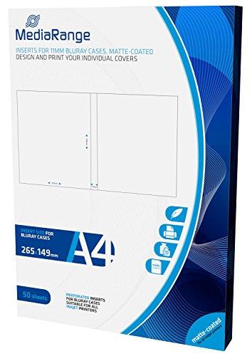 MediaRange MRINK123 inlegger (voor 11mm Bluray-hoesjes, mat gecoat, 50 stuks)