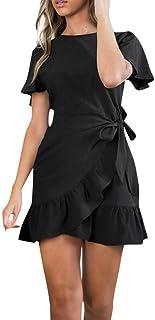 Faldas Mujer Vestido de Fiesta sin Mangas por Encima de la Rodilla sin Mangas de Verano sin Mangas de Verano Sundress