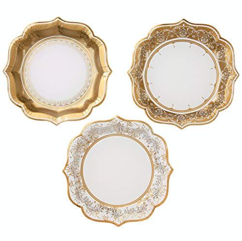 8 Talking Tables Party Porcelain Silver Large Paper Party Dinner Plates 27cm