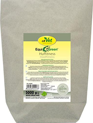 cdVet Naturprodukte EquiGreen Huffitness 5 kg - Pferde - gesundes Hufwachstum - wertvolle Kräuter + lebenswichtige Vitamine + Mineralstoffe - schönes + glänzendes Fell - Hautgesundheit -, 2023