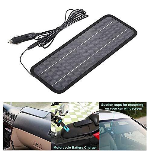 LYXMY 12 V Solar Auto Batterie Erhaltungsladegerät, 4,5 W Solarpanel mit Zigarettenanzünder-Stecker für Auto, Van, Boot, Wohnwagen, Wohnmobil, Wie abgebildet, Schwarz