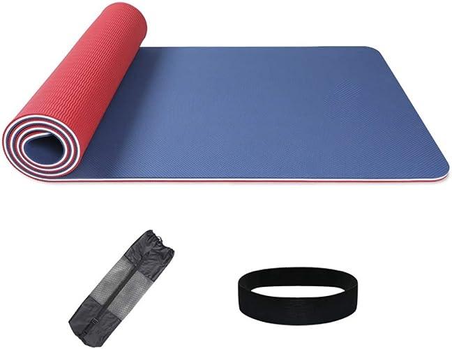 Yoga Tapis d'exercice Anti-dérapant de Tapis de Tapis Anti-dérapant écologique 10mm Double avec la Courroie de Transport