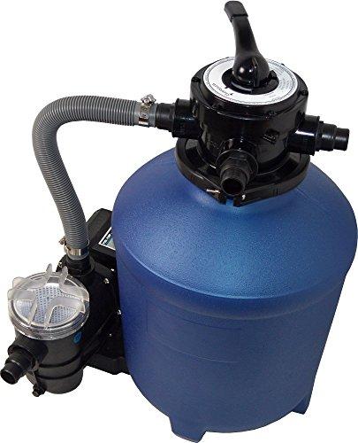 Sandfilteranlage Pool Filter Sandfilter mit Pumpe 13 m³ und Vorfilter Splash 380