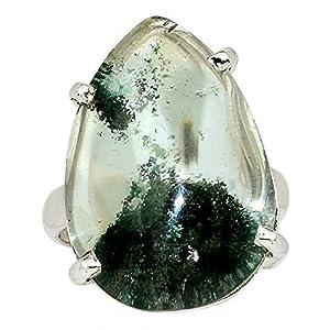 Xtremegems Lodolite Garden Quartz 925 Sterling Silver Ring Jewelry Size 6.5 33567R