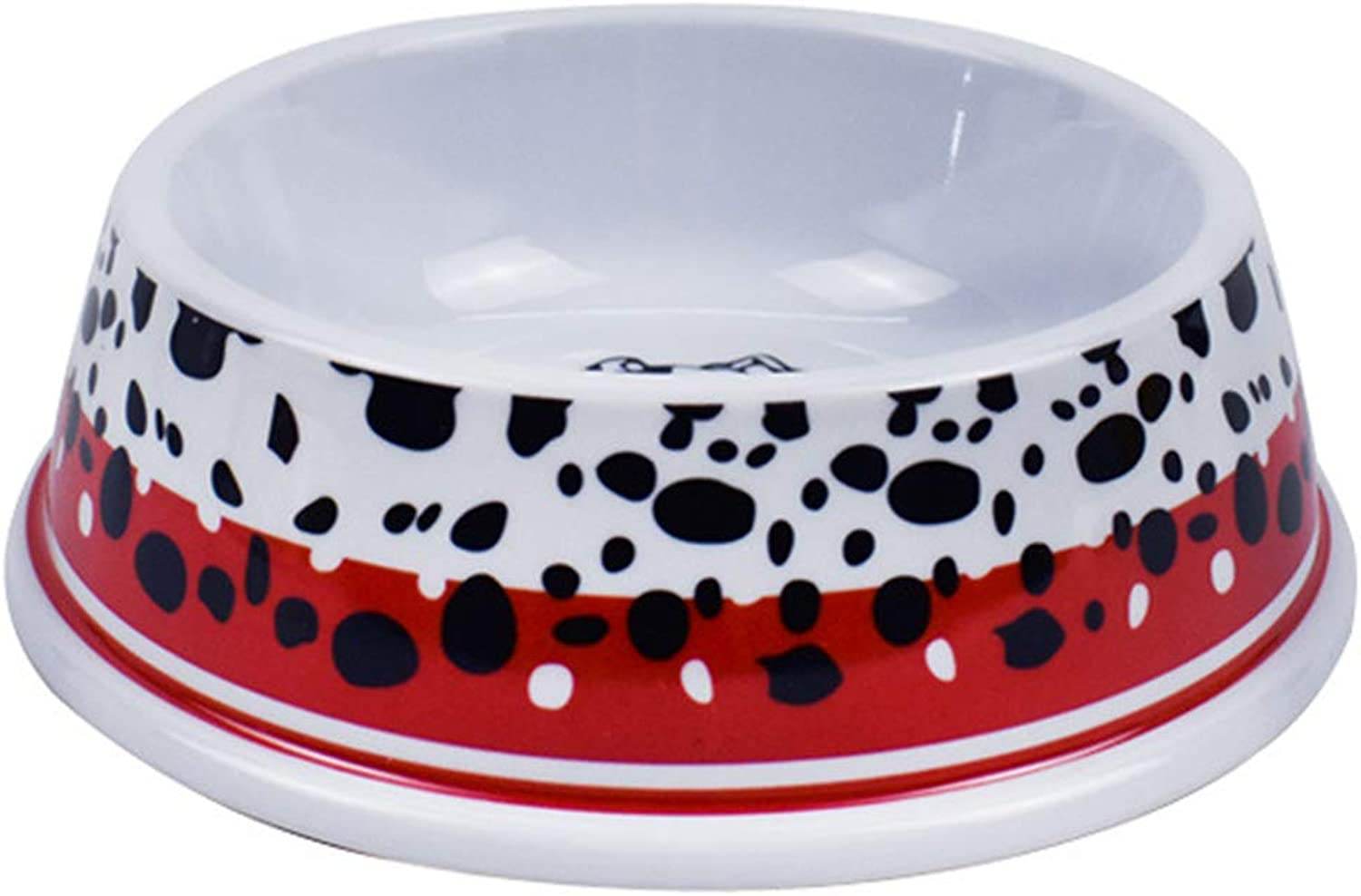 Dog Bowl Print Flower Pet Supplies Cat Dog Feeder Pet Bowl Dog Food Bowl Light Weight Go Out Household color,Red,S