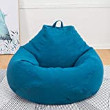 Sfit Housse de Pouf Poire Bean Bag Couverture de Pouf Fauteuil Poire Housse de Canapé pour Poufs de Salon Amovible et Lavable(sans Remplissage)