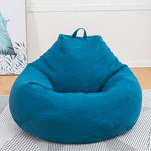 Souarts Sitzsack Bean Bag Covers Ohne Füllung Indoor Bodenkissen Chair Sitzsäcke Möbel Kissen Sessel Sofa BeanBag