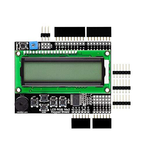 RLJJCS1163 LCD RGB 16x2 + Tastatur + Summer Shield-Modul Kit RobotDyn for Arduino - Produkte, die mit verschriebenen Arduino-Boards zusammenarbeiten