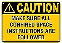 ヴィンテージレトロなメタルサインユニークなすべての限られたスペースの指示に従ってください、鉄のポスターの絵ティンサインヴィンテージの壁の装飾カフェバーパブホームビールの装飾工芸品