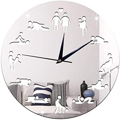21-KING Wall Clock Creative Clock Bedroom Wall Clock Fashion Clock, Silver