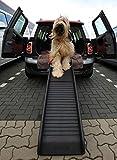 Lüllmann Auto Hunderampe klappbar Kunststoff Anti-Rutsch Rillen Profil 155 x 40cm bis 90kg 400281