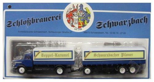 Schloßbrauerei Schwarzbach Nr.04 - Pilsner, Schwarzbier & Doppel Karamel - Krupp Mustang - Hängerzug Oldie