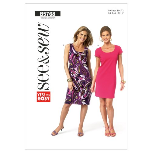 Butterick Patterns B57680A0 Misses'/Misses' Petite Dress Sewing Pattern, All Sizes