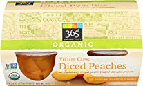 365 Everyday Value, Organic Yellow Cling Diced Peaches, 4 oz, 4 ct