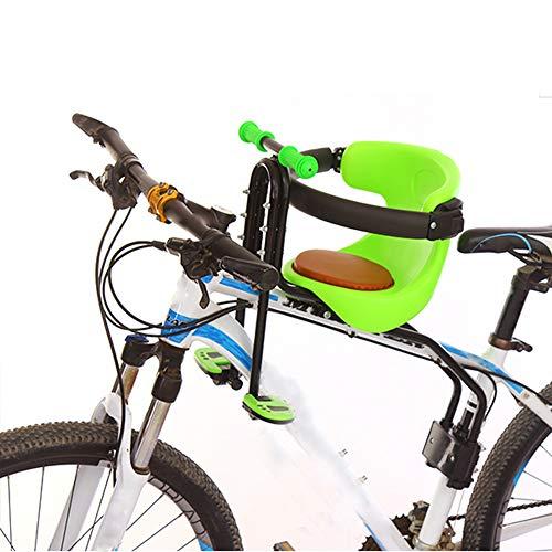 JT Fahrrad Kindersitz Vordersitz Sicherheitsstütze Gesicherter Kindersitz Vorne Mountainbike Kindersitz,Green