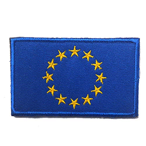 Toppa ricamata con bandiera dell'Unione europea Toppa ricamata con ferro da stiro UE Europa - Emblema Tattico Morale militare Toppe divertenti Distintivi Appliques