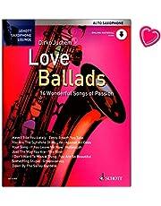 Love Ballads 14 Wonderful Songs of Passion – 14 canciones apasionadas para saxofón alto y piano – Libro de partituras de Dirko Juchem – con audio Onlilne y pinza para partituras