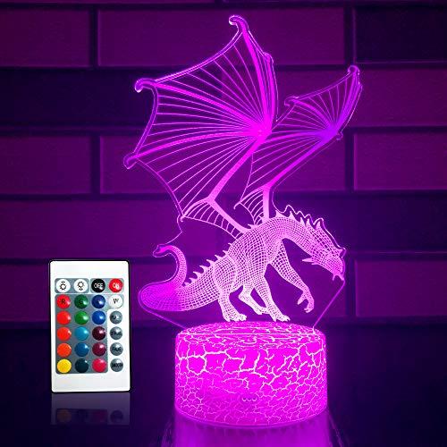 SETIFUNI Dragon lamp Dragon Toys Night Light 16 Colors...