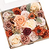 Ling's moment Dreamy Blush Pink Wedding Artificial Flowers Box Set for DIY Wedding Bouquets Centerpieces Arrangements Party Baby Shower Home Decorations