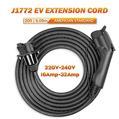 BESENERGY EV Charger Extension Cable 40Amp 220V-240V Charging Cord for Electric Vehicle Compatible All SAE J1772 Chargers¡