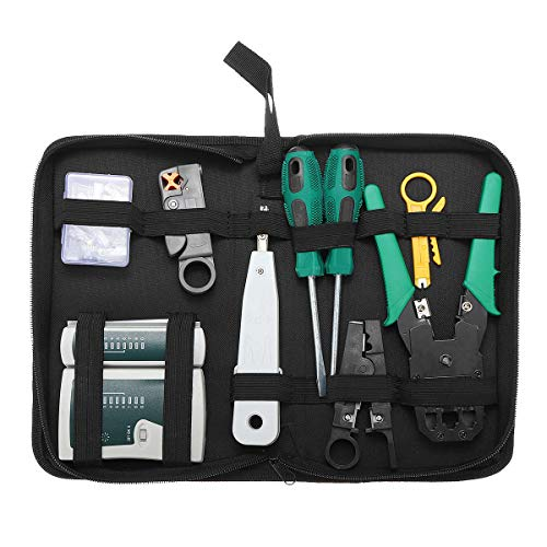 9 in1 LAN Netwerk Reparatie Kabel Tester Crimper Plier Hand Tool Kit Cat5 RJ45 RJ11 RJ12 Stripping Make Ethernet Connector Test