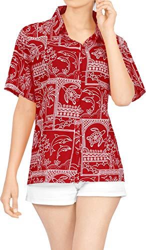 Bluzki z guzikiem do noszenia hawajskiej koszula damska plaża do krótkich rękawów, kostium kąpielowy czarny