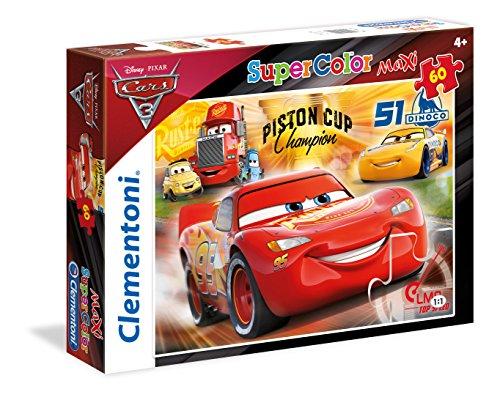 Clementoni- Cars 3 Supercolor Puzzle Maxi, 60 Pezzi, 26424