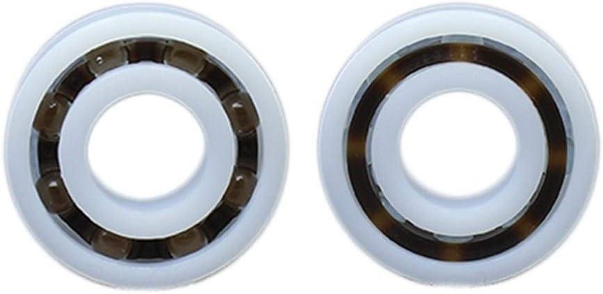 2 PCS Size : POM6204 20x47x14mm ZHENGGUIFANG Professional POM Bearing 6204 6205 6206 6207 6208 6209 6210 Glass Balls Nylon Cage Plastic Ball Bearings